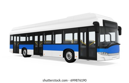 City Bus Isolated. 3D rendering