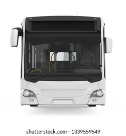 City Bus Isolated (front view). 3D rendering