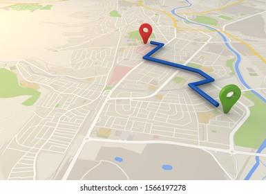 Imagenes Fotos De Stock Y Vectores Sobre Distancia Mapa