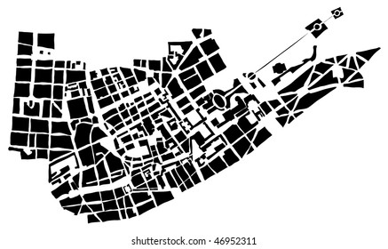 City map of the unknown city