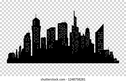 City skyline in grey colors. Buildings silhouette cityscape. Big streets. minimalistic style.  illustration