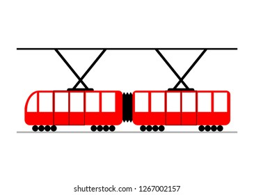 City train on white background