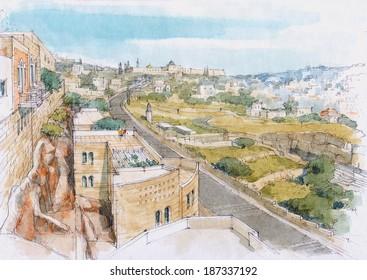 cityscape - Jerusalem
