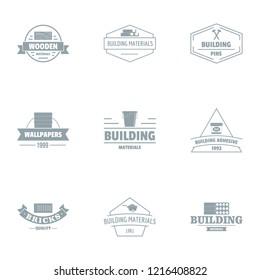 Civil engineering logo set. Simple set of 9 civil engineering logo for web isolated on white background