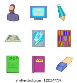 Civil servant icons set. Cartoon set of 9 civil servant icons for web isolated on white background