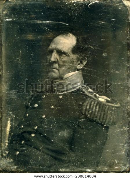 Civil War General Winfield Scott Carte Stock Illustration