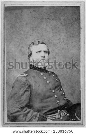 Major General George Henry Thomas Carte De Visite Ca 1862