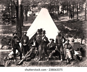 The Civil War, Scouts and guides to the Army of the Potomac, photograph by Alexander Gardner, 1862.