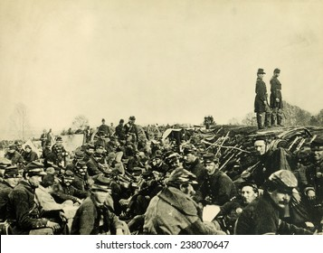 The Civil War, Union soldiers in Trenches before the Battle of Petersburg, Virginia, June 9, 1864.