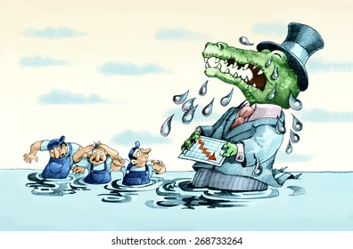 claims of a crocodile manager, he cries for the crisis and drowns his workers