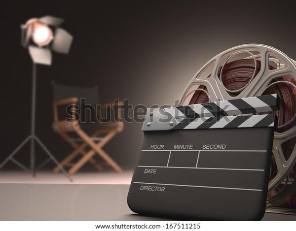 Concepto de salón de cine.