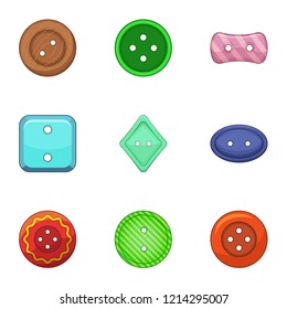 Clasp icons set. Cartoon set of 9 clasp icons for web isolated on white background