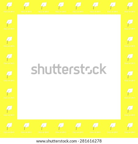 Class 2015 White On Yellow Frame Stock Illustration 281616278