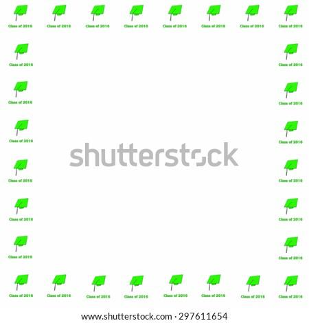 Class 2016 Green On White Frame Stock Illustration 297611654