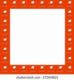 Royalty Free Stock Illustration Of Class 2028 White On Orange Frame