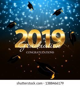 Class of 2019  Graduarion Education Background.  Illustration