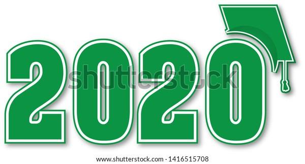 Graduation Banner 2020.Class 2020 Graduation Banner Stock Illustration 1416515708