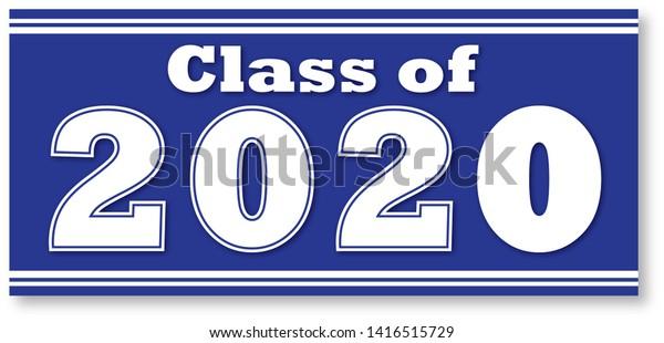 Graduation Banner 2020.Class 2020 Graduation Banner Stock Illustration 1416515729