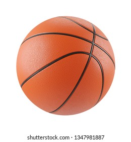 Classic basketball ball isolated on white background 3d