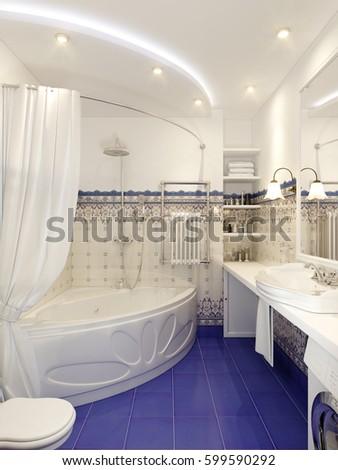 Royalty Free Stock Illustration Of Classic Bathroom Interior Design
