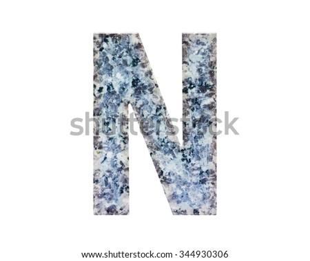 Classic Beautiful Font Letter Colour Design Stock Illustration