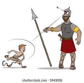 The classic Bible story of David versus Goliath.
