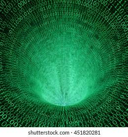 classic binary code 3d background