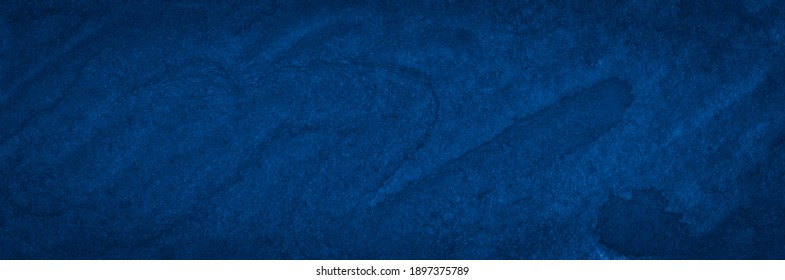Classic blue watercolor abstract background, space colors. Trendy vintage paintings for design and decoration. Frame with copy space.