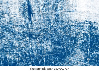 classic blue and white abstract hand painted brush texture, color of the 2020 year