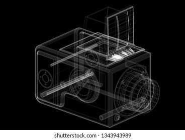 Classic Camera Architect blueprint  3D renderings