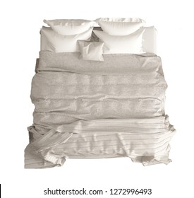 Bed top view Bed Clip Art Classic Double Bed With Pillows Duvet And Blanket Top View White And Cream Hanatemplate Images Bed Top View Stock Illustration 266484668 Shutterstock