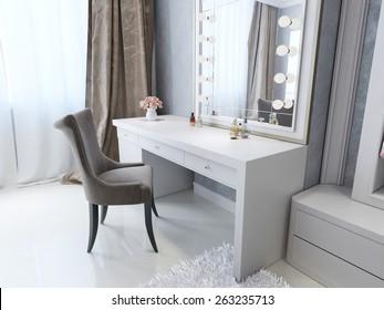 Classic dresser style Art Deco, 3D render