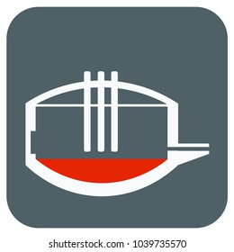 Classic Electric arc furnace. Icon