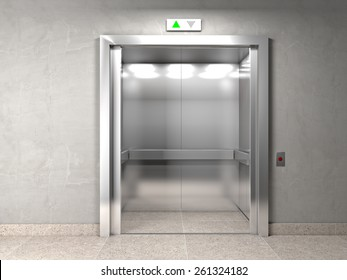 classic elevator and indoor background
