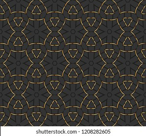 classic golden pattern.golden  ornamentin arabian style. Geometric abstract background. Pattern for wallpapers and backgrounds.