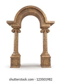 Classic Greek Marble Arc