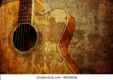 Classic guitar on wall