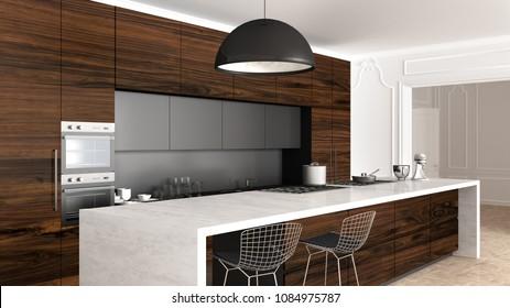 Vintage Kitchen Interior Images Stock Photos Vectors Shutterstock