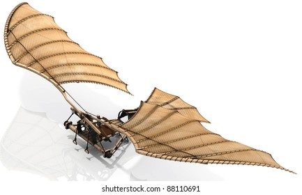 The classic Leonardo Da Vinci flying machine, otherwise known as an ornithopter. Let your dreams take flight! Give lift to your design.