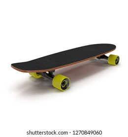 Classic Skateboard 3D Illustration On White Background Isolated