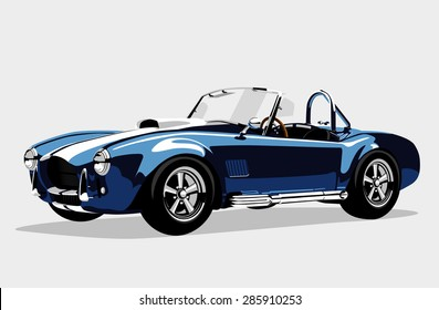 shelby cobra logo images stock photos vectors shutterstock https www shutterstock com image illustration classic sport blue car 285910253