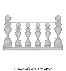 Classic stone balustrade icon. Cartoon illustration of classic stone balustrade  icon for web