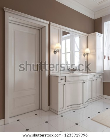 Royalty Free Stock Illustration Of Classic Style Bathroom Decoration
