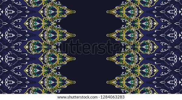klassische türkischarabische ziervintage dunkelblauer