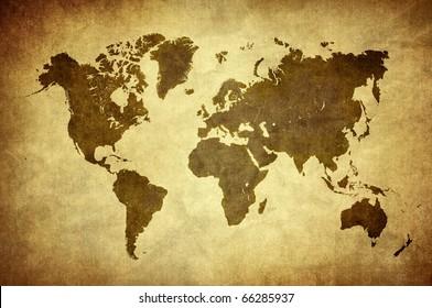 classic vintage world map