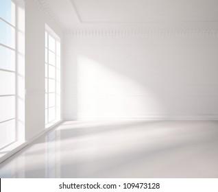 classic white room