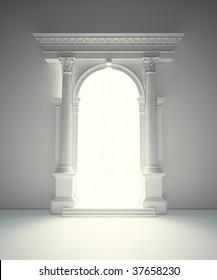 Classical Corinthian portal