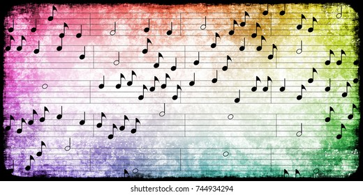 Classical Music Notes Abstract Background Art