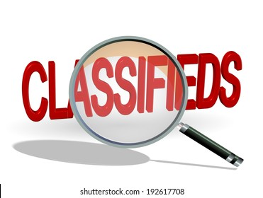 classifieds - search find - zoom magnify - len glass