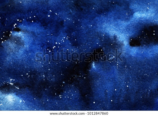 Clastic Starry Night Sky Clouds Deep Stock Illustration 1012847860